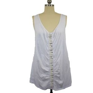 INC International Concepts White Knit Top Size 2
